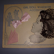 Vintage Doll Hair Accessories and Hankie Original Package!