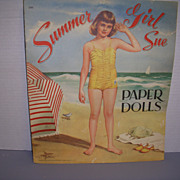"Vintage Paper Doll Set ""Summer Girl/Winter Girl"" Uncut!"