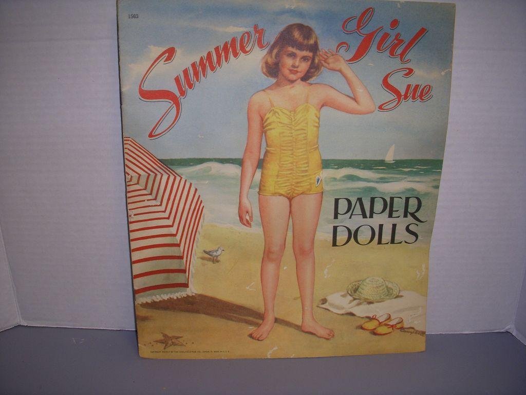 """Vintage Paper Doll Set """"Summer Girl/Winter Girl"""" Uncut!"""