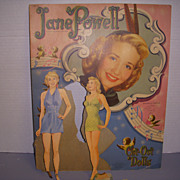 "1951 Vintage ""Jane Powell"" Paper Doll Set !"