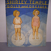 "Vintage Paper Doll Set ""Shirley Temple Dolls and Dresses"" Uncut!"