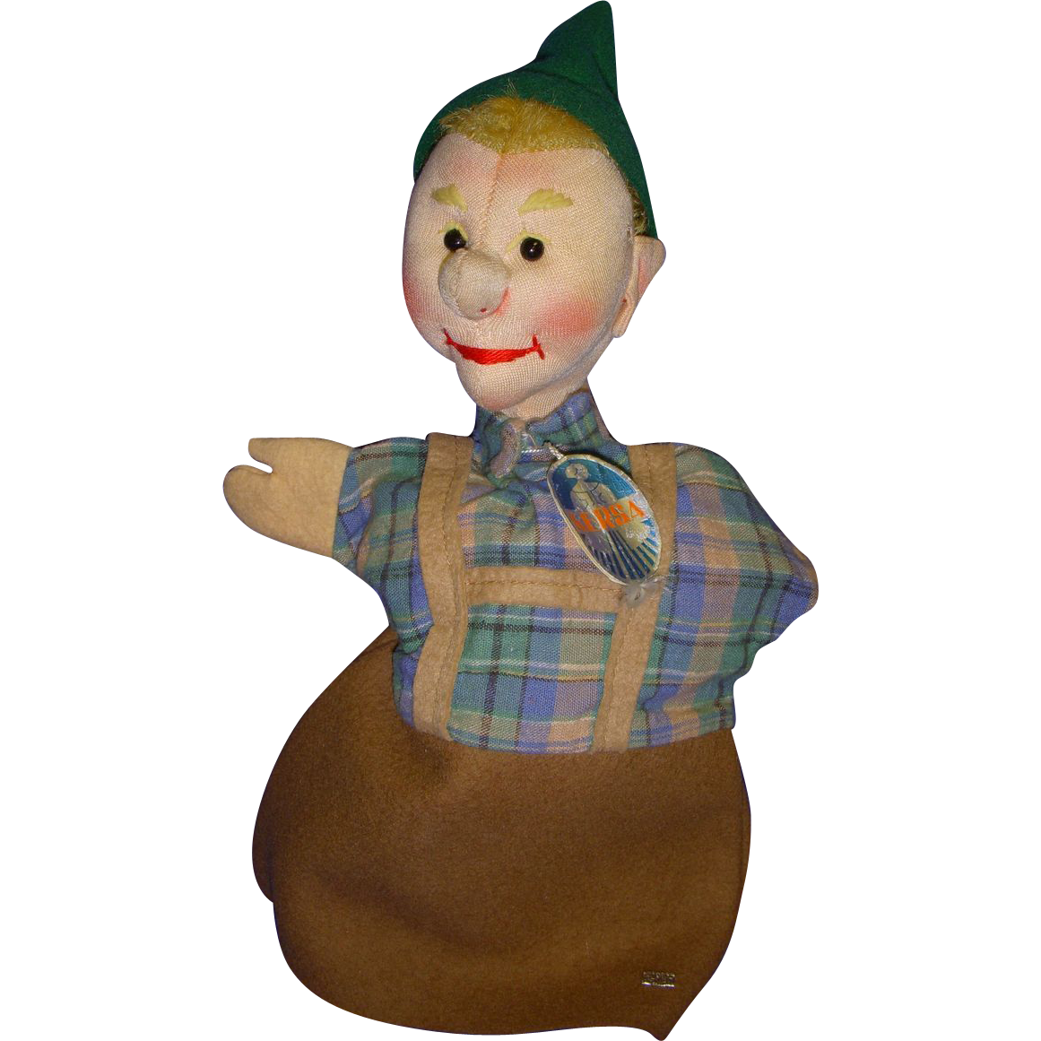 "Vintage Kersa Hand Puppet ""Seppl"" Made in Germany!"