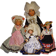 Vintage French Celluloid Dolls Lot of 4!