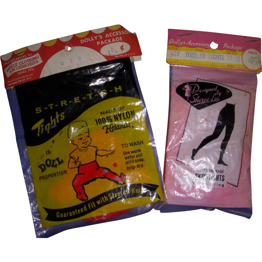 Vintage Doll Tights in Original Package - Lot of 2!