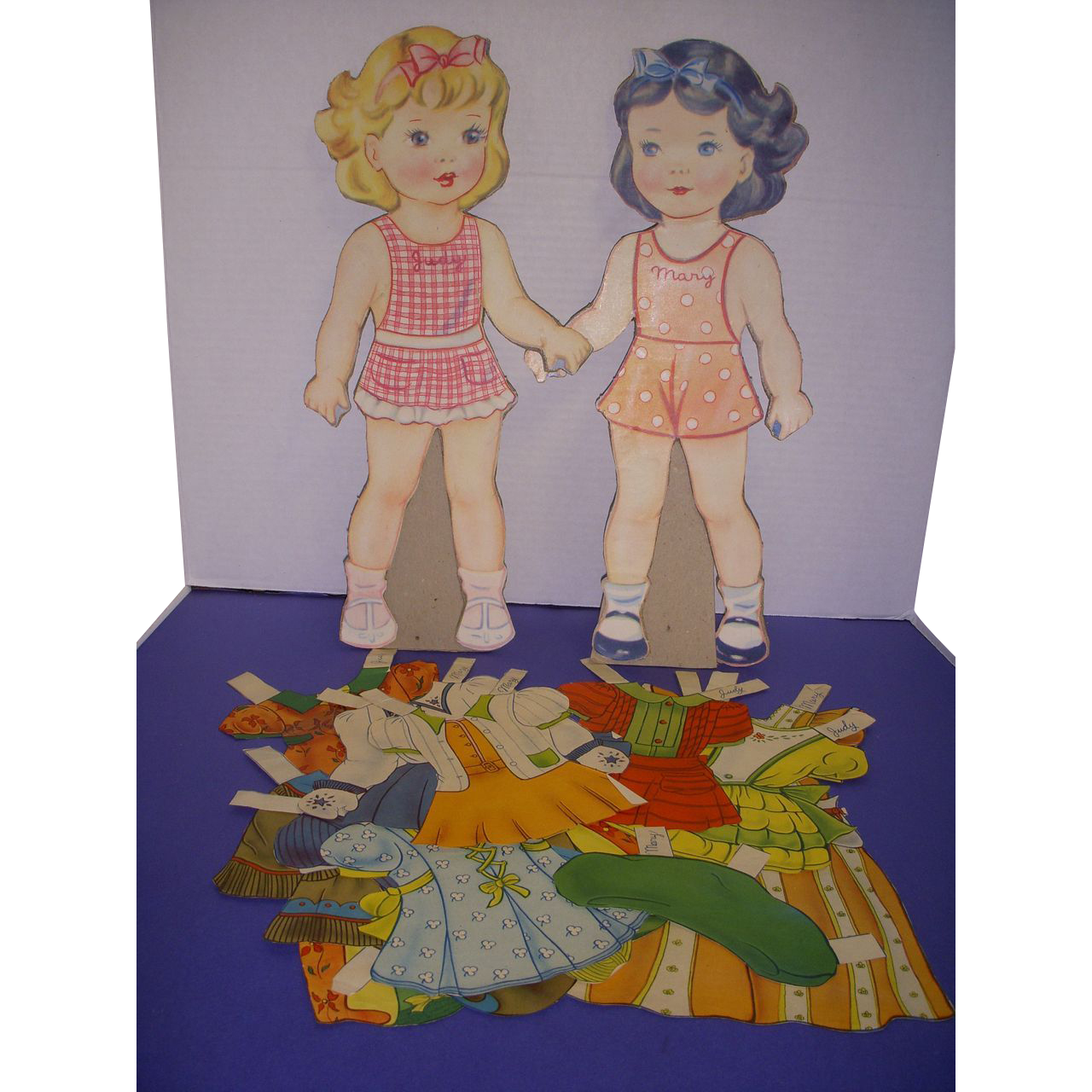 "Vintage Paper Doll Set ""Mary & Judy"" Paper Dolls!"