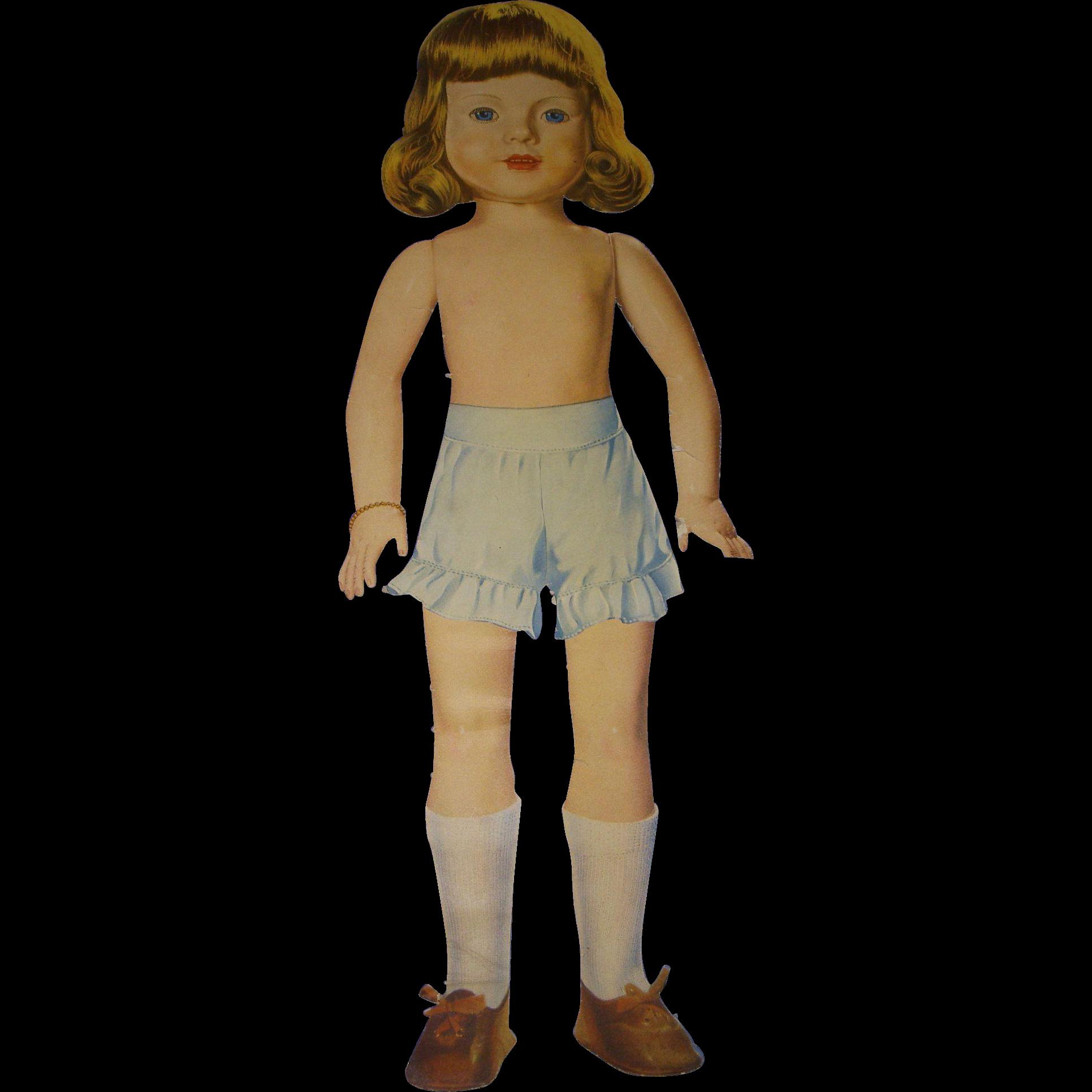 "1939 Vintage Effanbee ""Barbara Lou"" Paper Doll!"