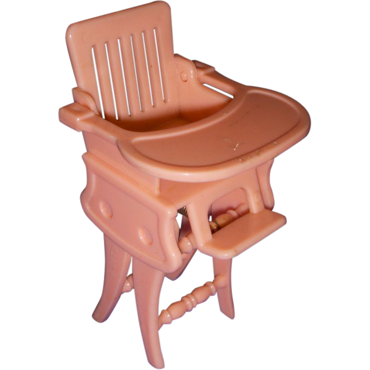 Vintage Ideal Miniature Doll High Chair/Rocker with Tray! from ...