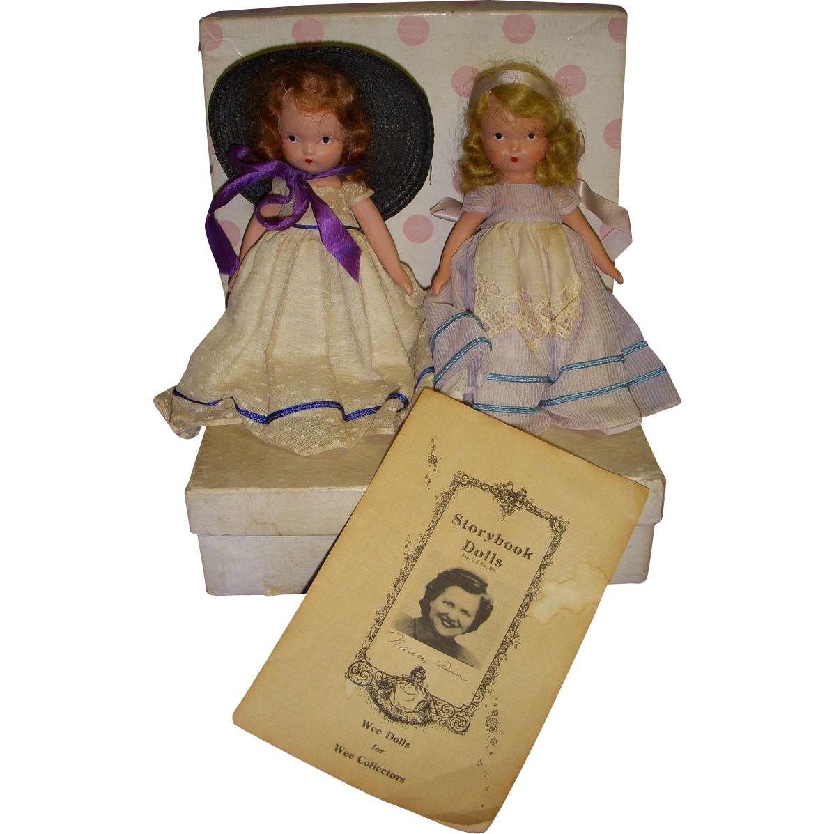 "Lot of 2 Nancy Ann Storybook Dolls ""Southern Belle & Dainty Dolly""!"