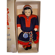 "Vintage Ronnaug Petterssen ""Sami"" Doll All Original in Box!"