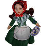"Vintage Cloth Norah Wellings ""Irish Colleen"" Mint Doll with Hand Tag & Label!"