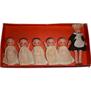 "Vintage All-Bisque ""Quints with Nurse"" Dolls MIB!"