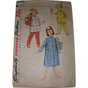 Simplicity Vintage Doll Pattern Matching Doll & Child Outfits!