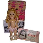 Vintage 1950s Vogue Ginny Doll Boxed with Original Booklets!