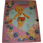 "Vintage ""The Kewpies "" Uncut Paper Doll & Coloring Book!"