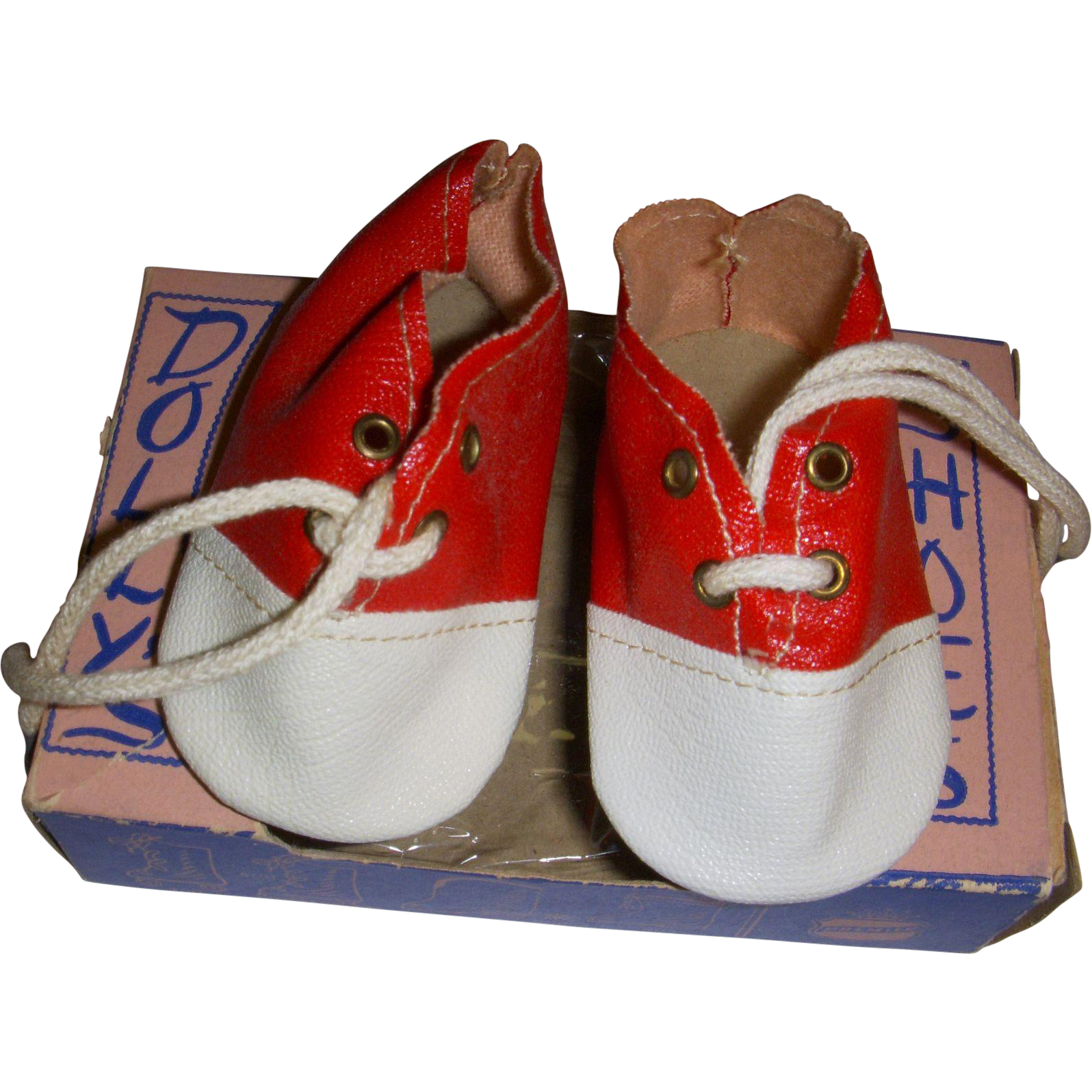 Vintage 1950s Doll Shoes in Original Box