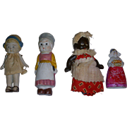 Vintage All-Bisque Dolls Lot of 4