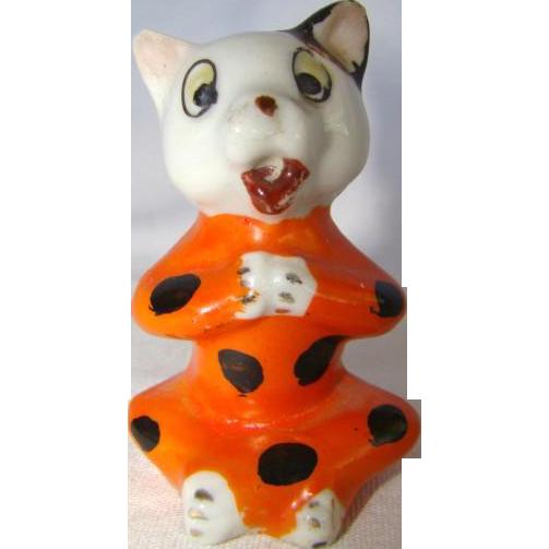Adorable Vintage HALLOWEEN Porcelain Pixie Cat Decoration, Japan from ...