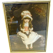 Vintage CHERRY RIPE Victorian Framed Print By Artist Sir John Everett Millais