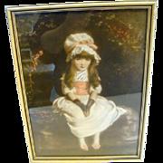 Vintage CHERRY RIPE Victorian Framed Print By Artist Sir John Everett Millais