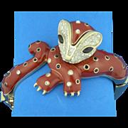 Panetta Wild Cat Figural Bracelet
