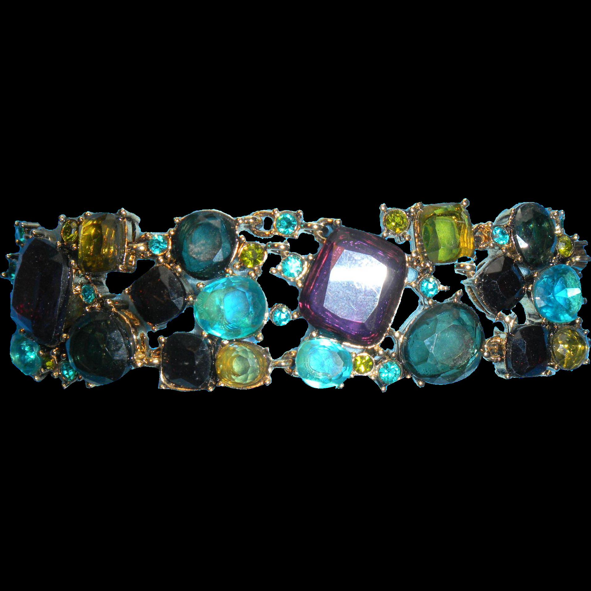 Multi-Colored Rhinestone Bracelet