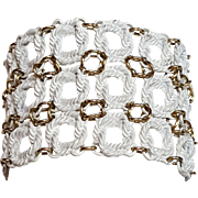 Monet White Enamel Rope Bracelet