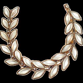 Trifari Clear Glass Bezel Set Bracelet