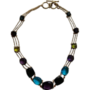 Stunning Multi-Colored Rhinestone Necklace