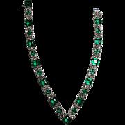 Panetta Emerald Rhinestone Necklace