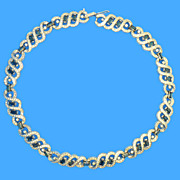 Panetta Crystal & Blue Rhinestone Necklace
