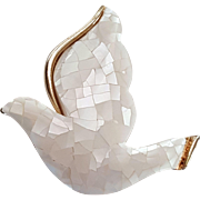 Liz Claiborne Mosaic Mother of Pearl Dove Pin