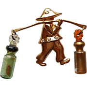Coro Asian Waterboy Figural Pin