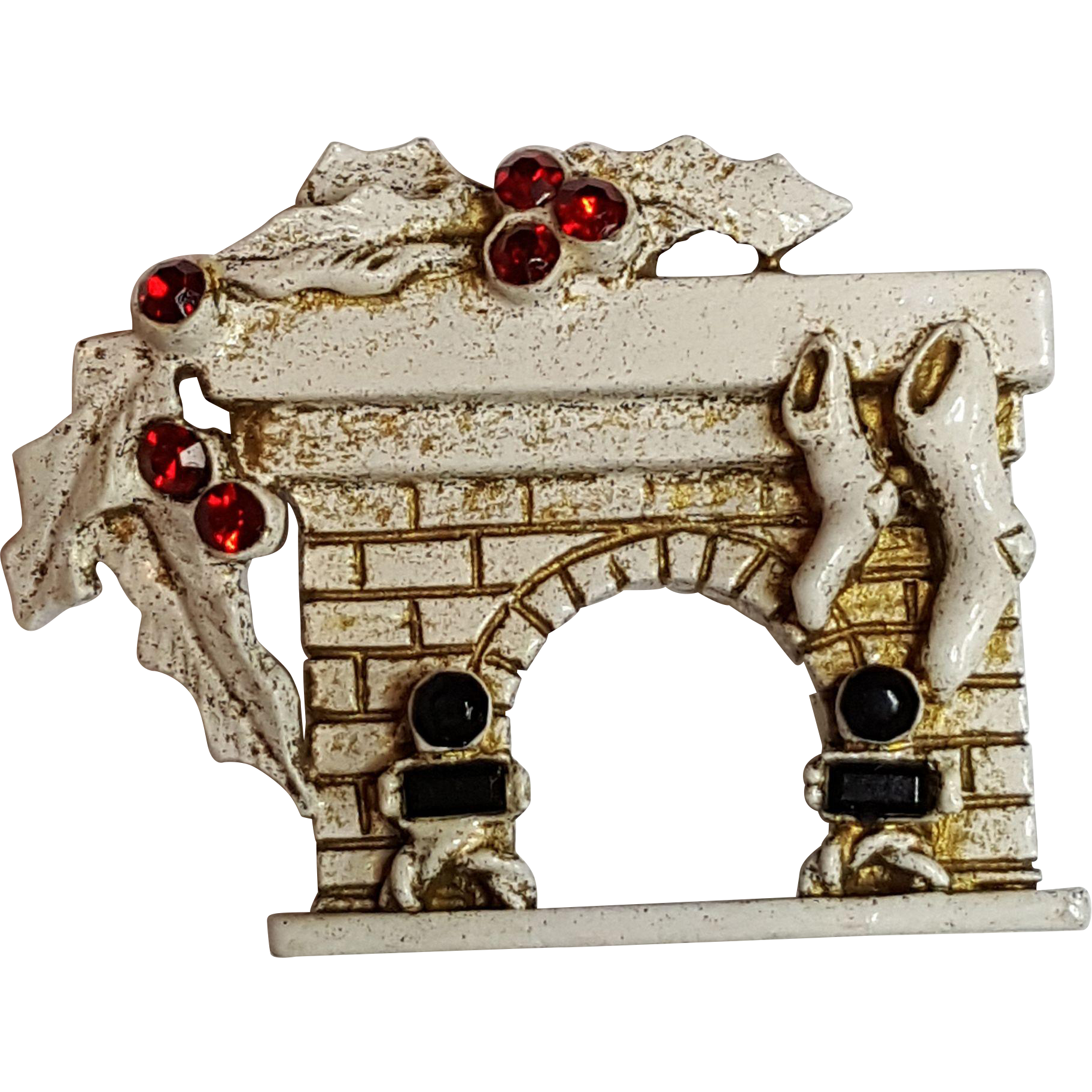 Dodds Christmas Fireplace Pin