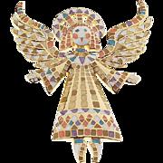 Bob Mackie Mosaic Angel Pin