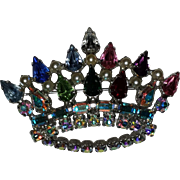 B. David Multi-Colored Rhinestone Crown