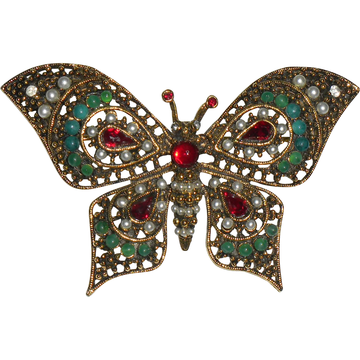 Beautiful ART Butterfly Figural Pin
