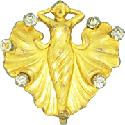 Art Nouveau Nymph Lady Figural Pin