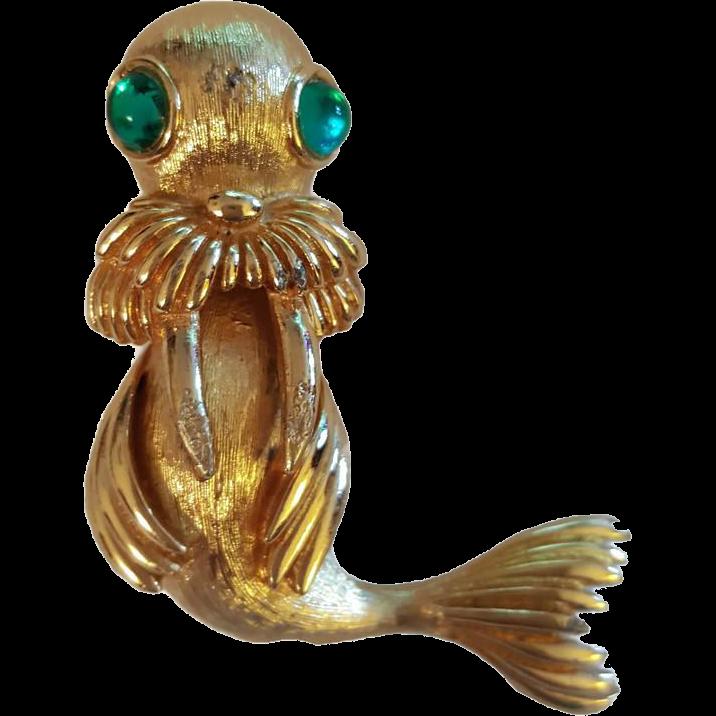 Adorable Monet Walrus Pin