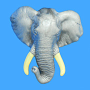 Fun Figural Grey Elephant Pin by AJC