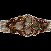 Faux Pearl & Rhinestone Bracelet