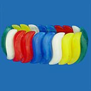 Vintage Avon Summer Lights Multicolor Lucite Bangle Rainbow Bracelet