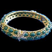 Turquoise Cabochon & Starfish Bracelet