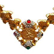 Bejeweled Medallion Necklace