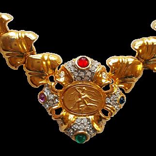 Bejeweled Medallion Necklace