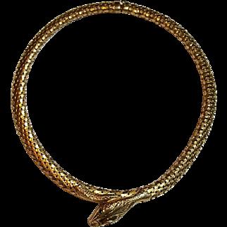 1920s Snake Choker Necklace