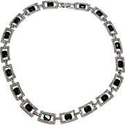 Emerald Green Rhinestone Necklace