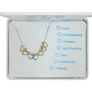 Mystic Hearts Gold Necklace