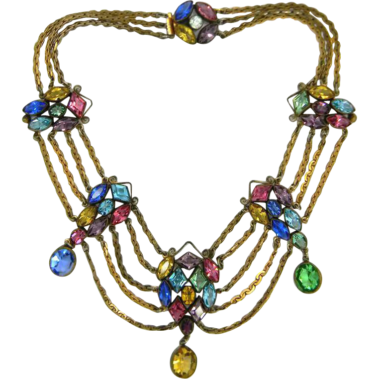Stunning Art Deco Festoon Necklace