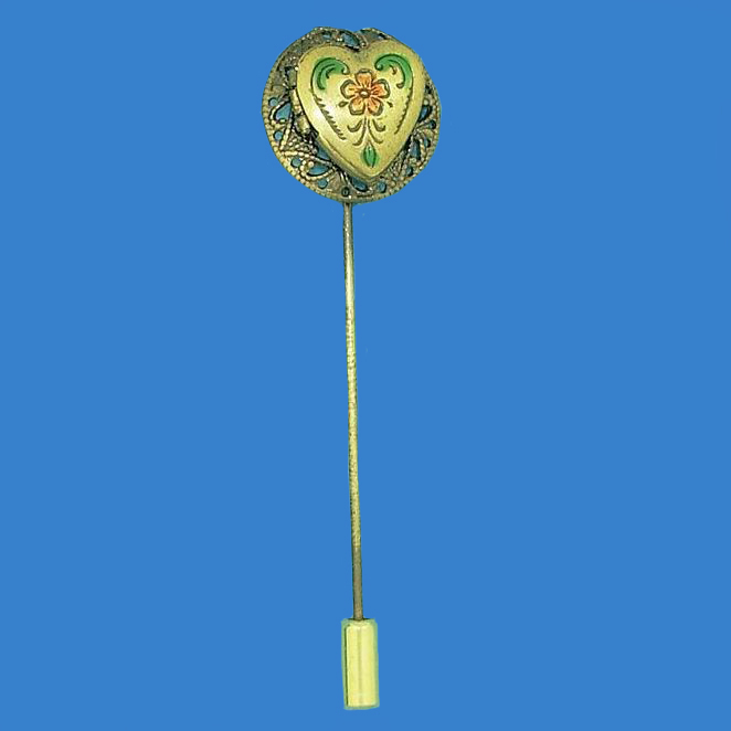 Heart Shaped Locket Stick Pin
