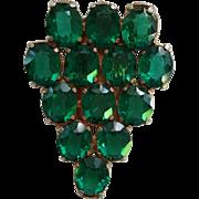 Green Rhinestone Fur Clip